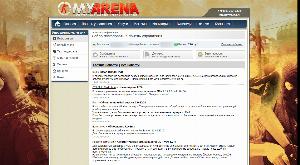 Панель управления myarena.ru