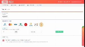 Варианты пополнения счёта daopush.com