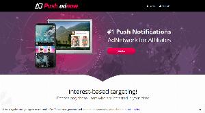 Главная страница push.adnow.com