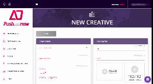 Добавление нового креатива push.adnow.com