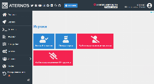 Управление игроками и блокировкой aternos.org