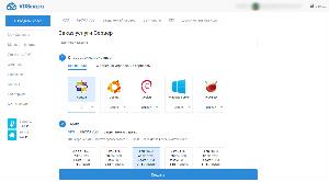 Страница заказа виртуального сервера на vdsina.ru